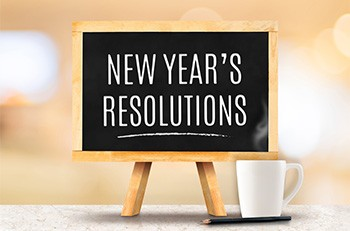 New Year's resolutions graphic