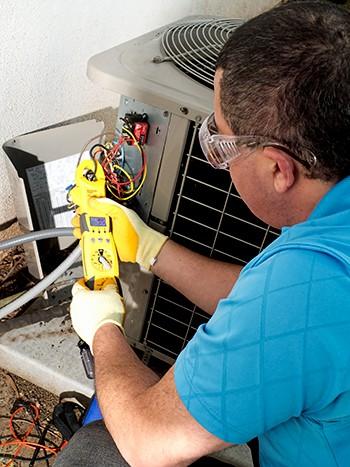 air conditioning repair service man