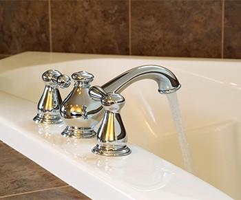 New Chrome Faucet in Master Bath Tub