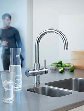 Beau A Grohe Kitchen Faucet Brightens Even The Best Gourmet Kitchens