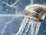 shower head with water flowing