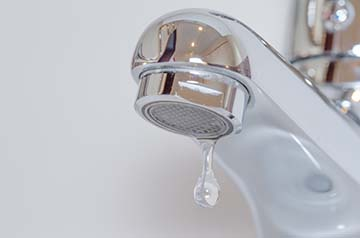 a leaking faucet