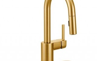 brushed gold finish faucet