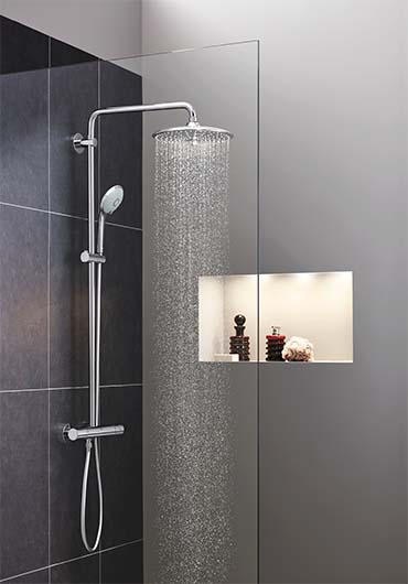 grohe euphoria 260 showerhead is pure luxury the plumbing source. Black Bedroom Furniture Sets. Home Design Ideas