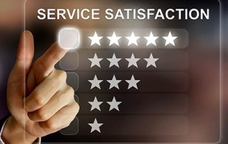 service satisfaction graphic