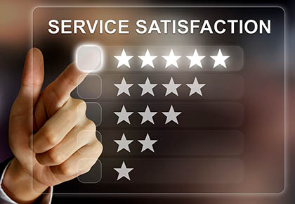 service satisfaction graphic