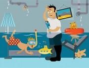 plumbing repair cartoon