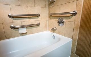 tub with grab bars